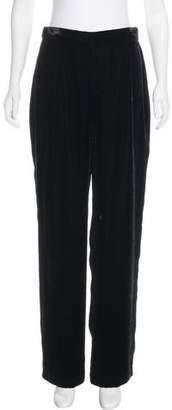 Giorgio Armani Velvet Wide-Leg Pants