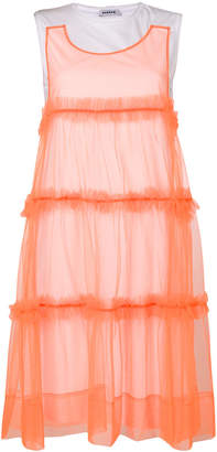 P.A.R.O.S.H. tulle trim dress