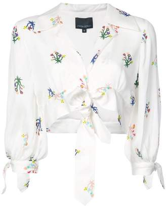Cynthia Rowley (シンシア ローリー) - Cynthia Rowley tied up cropped blouse