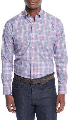 Peter Millar Men's Crown Ease Archipelago Plaid Sport Shirt