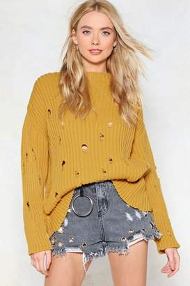 Nasty Gal Prove Knit Distressed Sweater