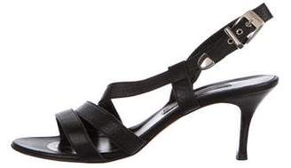Luciano Padovan Leather Slingback Sandals