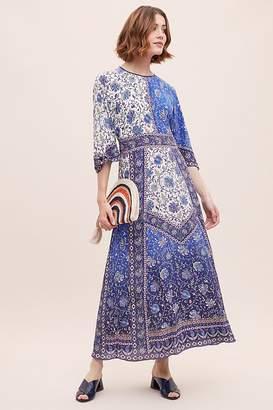 Tanvi Kedia Mixed-Print Silk Maxi Dress