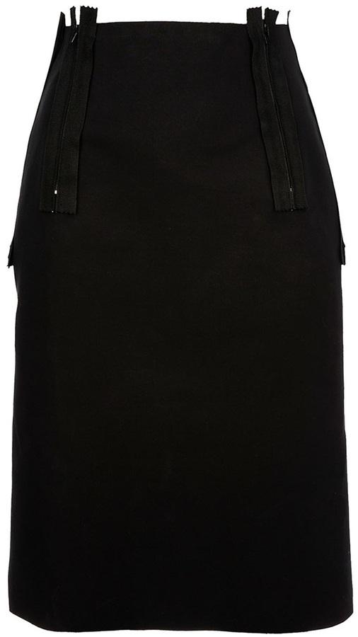 Maison Martin Margiela zip detail pencil skirt