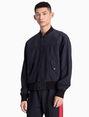 Calvin Klein wool woven baseball jacket