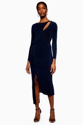 Topshop **Plisse Panelled Dress by Boutique