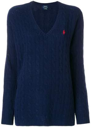 Polo Ralph Lauren Blue Long Sleeve Womens Sweaters Shopstyle
