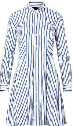 Polo Ralph Lauren Pleated Poplin Shirtdress $165 thestylecure.com