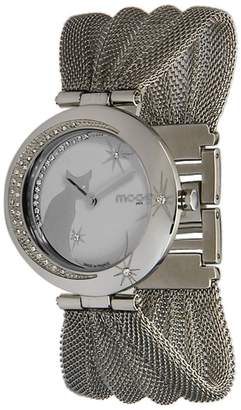 Swarovski Moog Paris Lucille Women's Watch with Dial, Silver Stainless Steel Strap & Elements - M44914-002