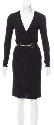 Gucci Belted Mini Dress