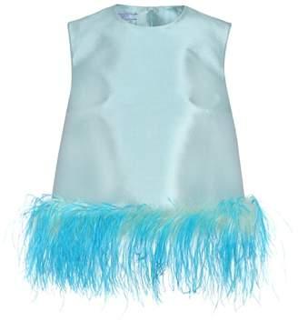 Prada Sleeveless wool and silk top