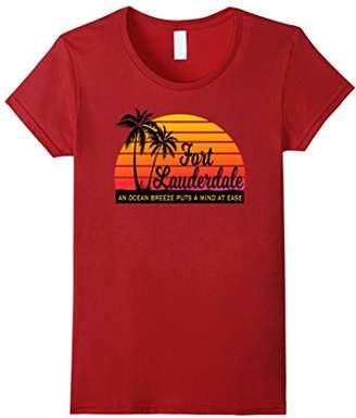 Ocean Breeze Mind at Ease FORT LAUDERDALE Souvenir Tshirt