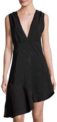 Zadig & Voltaire Asymmetric Star Jacquard Dress, Noir $179 thestylecure.com