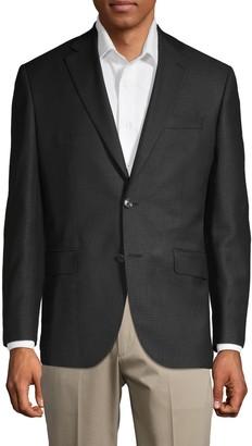 Jack Victor Houndstooth Wool Sportcoat