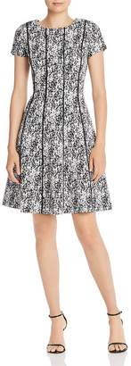 Adrianna Papell Jacquard Fit-and-Flare Dress