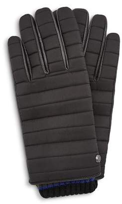 Ted Baker Avvo Quilted Leather-Contrast Gloves