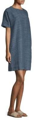 Eileen Fisher Striped Roundneck Linen Tunic