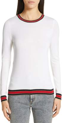 Gucci Stripe Trim Wool Sweater