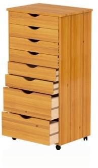 Adeptus Wood Rolling Drawers-6+2 Wide