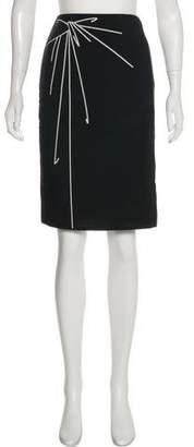 Paule Ka Printed Knee-Length Skirt