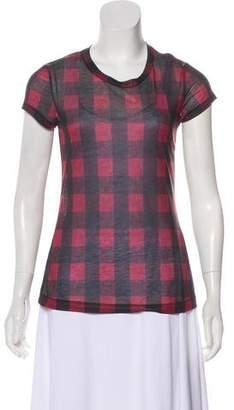 Rag & Bone Printed Short Sleeve Top