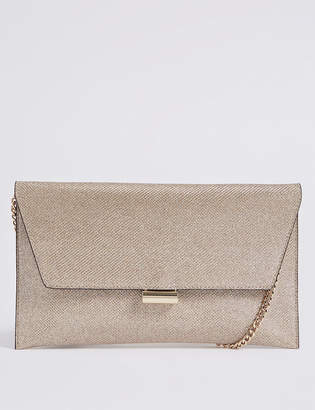 4f74ceb6566 at Marks and Spencer · M&S Collection Faux Leather Fold Over Clutch Bag
