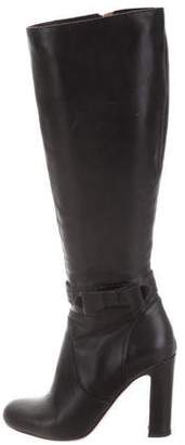 RED Valentino Leather Knee-High Boots