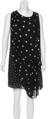 Halston Polka Dot Sleeveless Dress