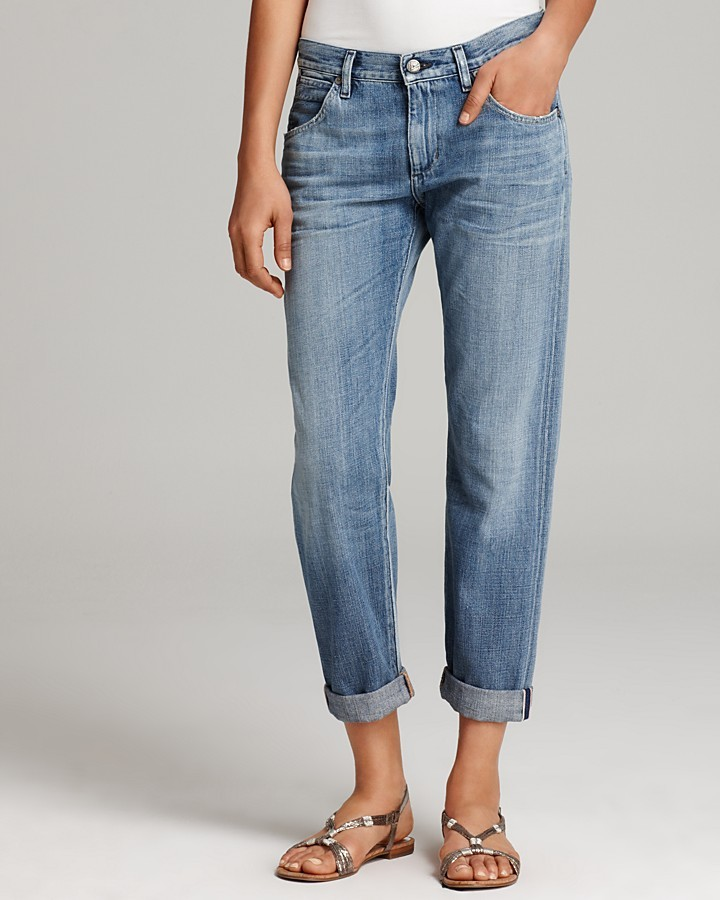 Citizens of Humanity Jeans - Daisy Cropped Boyfriend in Borderline Wash