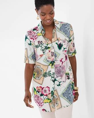 Silky Soft Floral Tiles Tunic