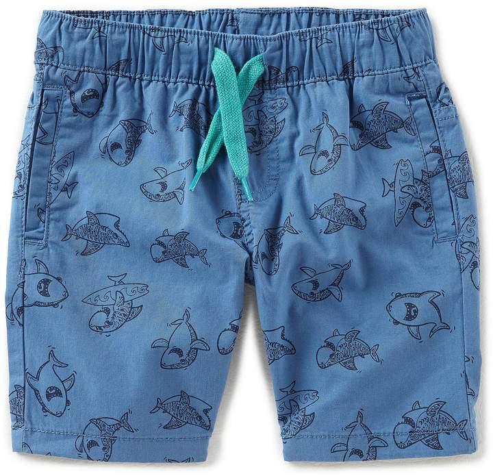Hollywood Little Boys 2T-7 Sharky-Print Shorts