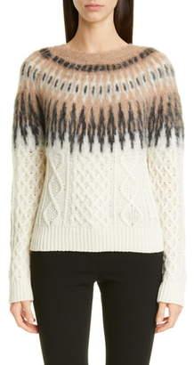 Altuzarra Fair Isle Cable Cashmere Sweater