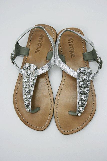 Mystique Silver Grommet Sandal