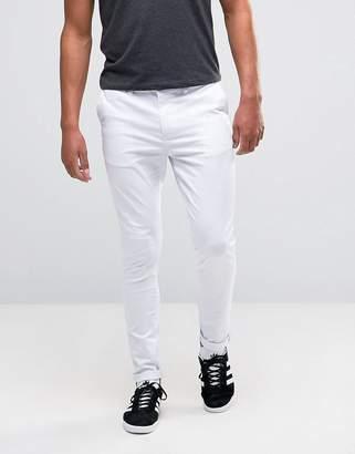 Asos DESIGN super skinny chinos in white