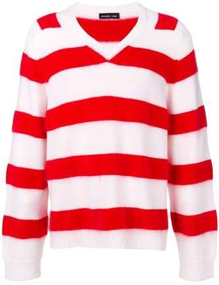 Riccardo Comi striped v-neck jumper