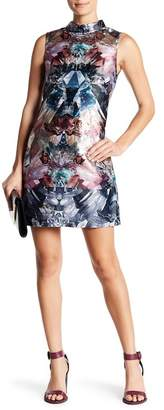 Ted Baker Mirrored Minerals Print Sleeveless Tunic Dress