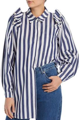 Mother of Pearl No Frills by Embellished Stripe Shirt