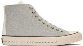 Visvim Silver Skagway Hi Folie Sneakers