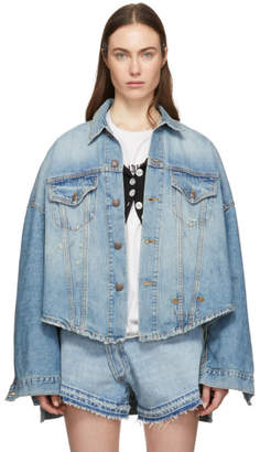 R 13 Blue Denim Oversized Maxs Jacket