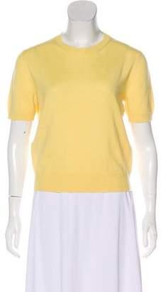 Miu Miu Short Sleeve Cashmere Top