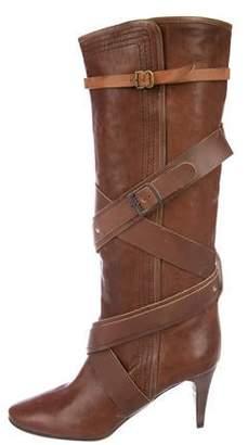 Chloé Leather Knee-Length Boots