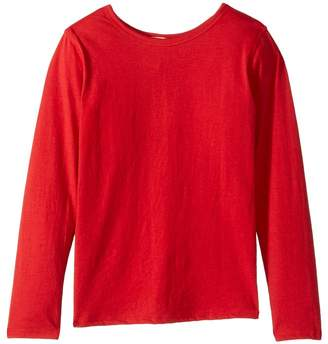 4Ward Clothing Long Sleeve Scoop Jersey Top - Reversible Front/Back Girl's T Shirt