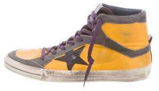 Golden Goose 2.12 Distressed Leather Sneakers