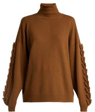 Barrie - Timeless Roll Neck Cashmere Sweater - Womens - Dark Brown