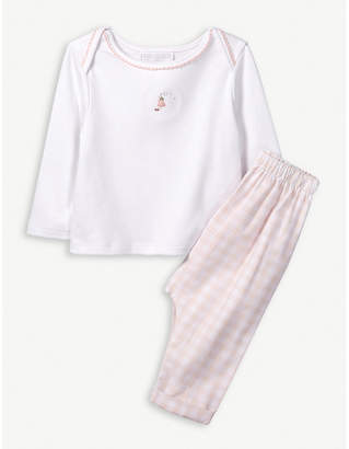 The Little White Company Fairy-embroidered cotton pyjamas 0-24 months