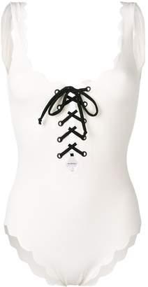 Marysia Swim Palm Springs lace-up swimsuit