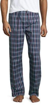 Derek Rose Plaid Pajama Pants, Burgundy/Navy $105 thestylecure.com