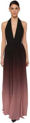 Elie Saab LONG DEGRADE HALTER NECK DRESS