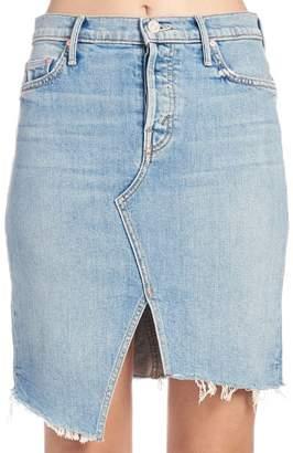 Mother the Tomcat Slide Mini Fray Skirt