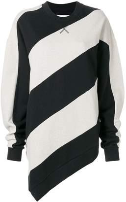 Marques Almeida Marques'almeida striped print sweatshirt